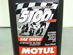 Motul 5100 Synthetic Blend 15W50 Motor Oil, 1 Quart