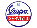 OEM Vespa Enameled Service Sign - #605078M