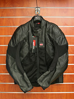 Aprilia Alpinestars Bike Jacket, Black Leather