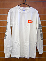 OEM Aprilia Long Sleeve T-Shirt, White - LARGE