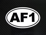 AF1 Racing Oval Country Decal
