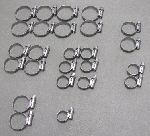 Stainless Steel Hose Clamp Kit  - 25 pieces