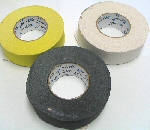 Gaffers Tape in Black, Yellow, or White.