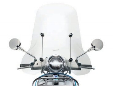 OEM Vespa Accessory Tall Windscreen Kit - 1B001042