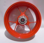 OEM Aprilia Cast Alu Rear Wheel, Red - 2B002110