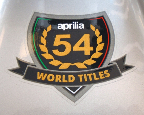OEM Aprilia Decal 54 World Championships