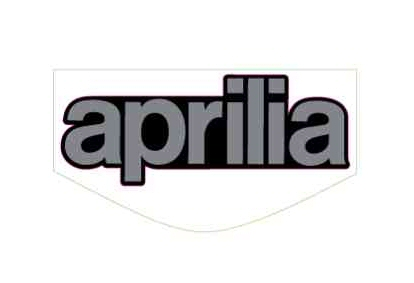 "OEM Aprilia Windscreen Decal ""Aprilia"" - 2H000989"