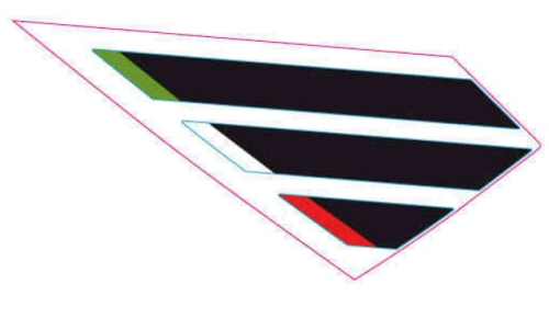 OEM Aprilia RH Band Tank Decal - 2H001718