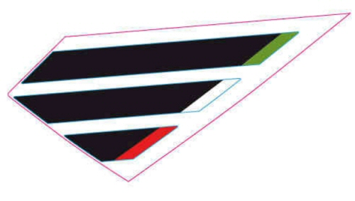 OEM Aprilia LH Band Tank Decal - 2H001719