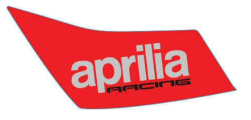 OEM Aprilia RH Fuel Tank Decal - 2H002999