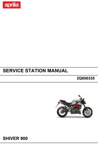 OEM Aprilia Service Station Manual --Shiver 900