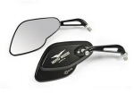 Moto Guzzi Black Steel Mirror - Pair