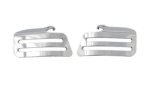OEM Moto Guzzi Brushed Inj Cover, Pair -2S000154