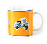Vespa Ceramic Coffee Mug  12 oz - 605251M002