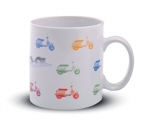 Vespa PX Coffee Mug, White 12 oz - 605523M00W