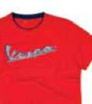 Vespa Men's T-Shirt Original Red L - 605714M04R
