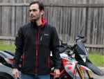 OEM Aprilia Softshell Jacket, Black -605786M0x2