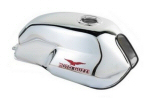 OEM Moto Guzzi Fuel Tank, Chrome - 606007M
