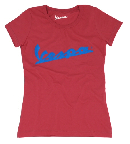 OEM Vespa Ladies T-Shirt Red, Large -606054M05R
