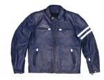 Moto Guzzi Leather Jacket, Blue Med - 606092M01B