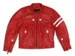 Moto Guzzi Leather Jacket, Red M - 606092M01R