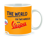 "Coffee Mug ""World on Two Wheels"" 12 oz"