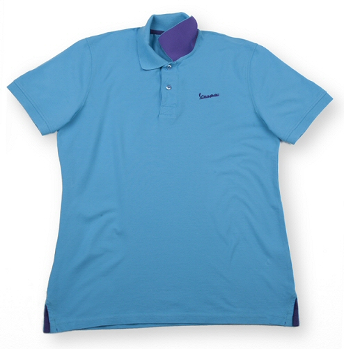 Vespa Polo Shirt, Mens, Blue Small - 606230M01A
