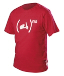 Vespa (Red) T-Shirt, Medium -606532M002R