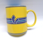 Vespa Stripes Coffee Mug, Yellow 11oz. -606226M