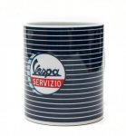 OEM Vespa Blue Stripes Coffee Mug - 606764M002