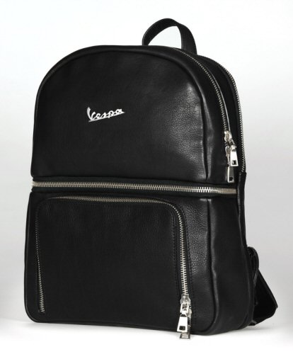 Vespa Accessory Backpack, Blk Leather -606876M