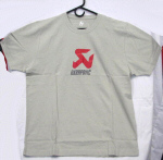Akrapovic Screen Printed T-Shirt, Beige XL