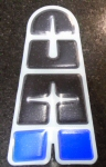 OEM Aprilia Tank Guard Decal Black/Blue - 852816