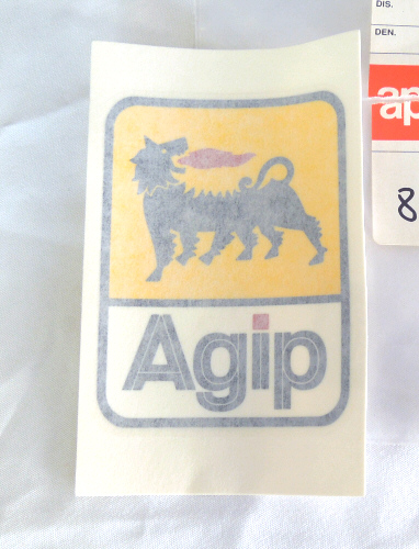 Agip Sticker 3 x 2.15 inches - 853277