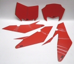 OEM Aprilia Red Number Plate Decal Set - 853937