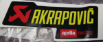 "OEM Aprilia ""Decal Akrapovic"" (NEW) -#8797215"