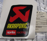 AKRAPOVIC STICKER - 893675