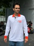 Aprilia Long Sleeve Jersey Polo, White - 89432XX