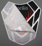 OEM Aprilia Tank Guard Decal, Black -#895039