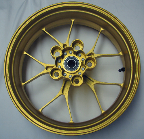 OEM Aprilia Rear Wheel, Gold Forged Alum - 8961715