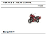 OEM Moto Guzzi Svc Station Manual Norge 1200 8V