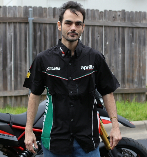 Aprilia Accessories Alitalia Pit Shirt Black