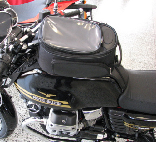 OEM Moto Guzzi Tank Bag And Mount For V7