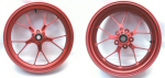 OEM Aprilia Forged Aluminum Wheels, Red