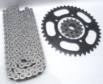 RK 525 Black Chain and Steel Sprockets Kit
