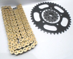 DID 525 VX Gold Chain and Steel Sprockets Kit