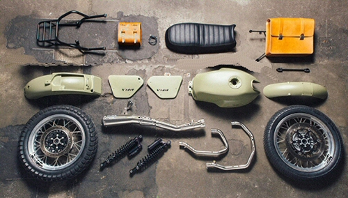 Moto Guzzi Legend Olive Green Kit for '13-'15 V7's