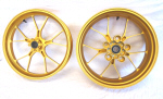 Aprilia Accessory Forged Aluminum Wheels, Gold