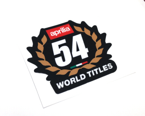 54 World Championships Decal - Black Background