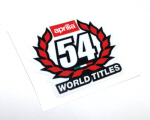 54 World Championships Decal - White Background